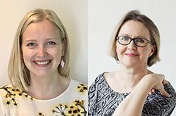 Reetta Nurmi ja Elina Marjamäki.