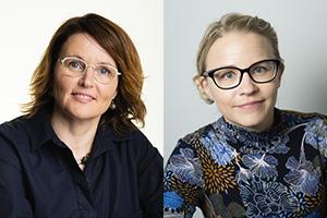 Rintakuvissa Erica Mäkipää ja Mervi Aaltokallio.