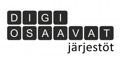Webinaarisarjan logo, jossa lukee DIGIOSAAVAT järjestöt