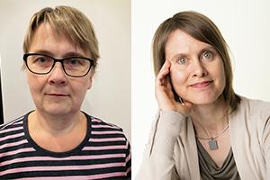 Anu Aalto ja Päivi Opari kasvokuvissa.